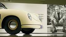 Porsche 356/2 Gmünd Cabriolet with Ferry Porsche in the back