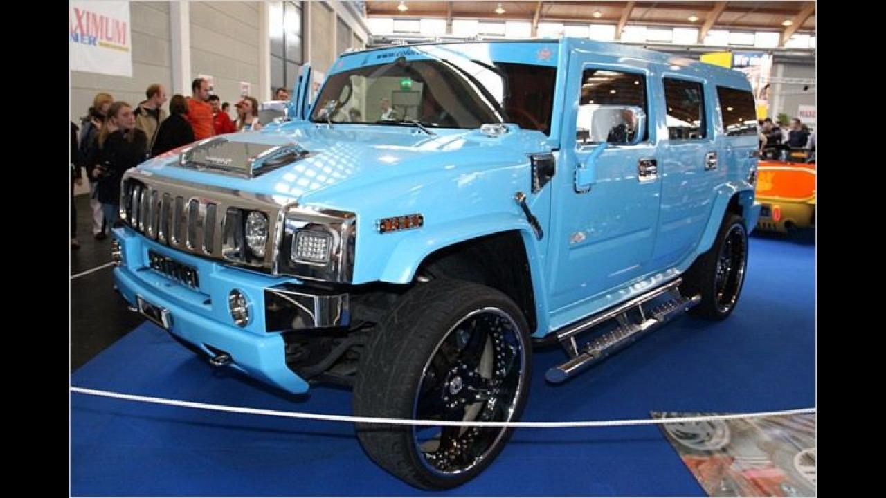 Hummer H2: Hellblau scheint die neue Trendfarbe zu sein