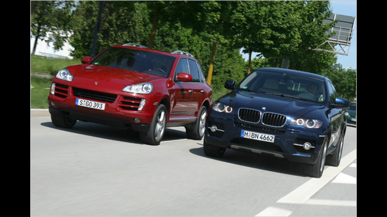 Diesel-SUVs im Vergleich: BMW X6 xDrive30d gegen. Porsche Cayenne