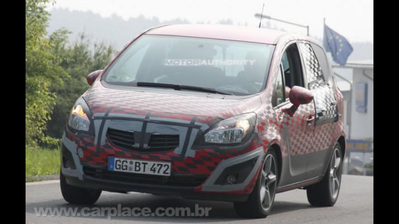 Nova Meriva 2010 - Projeção mostra como será nova geração do monovolume da Opel