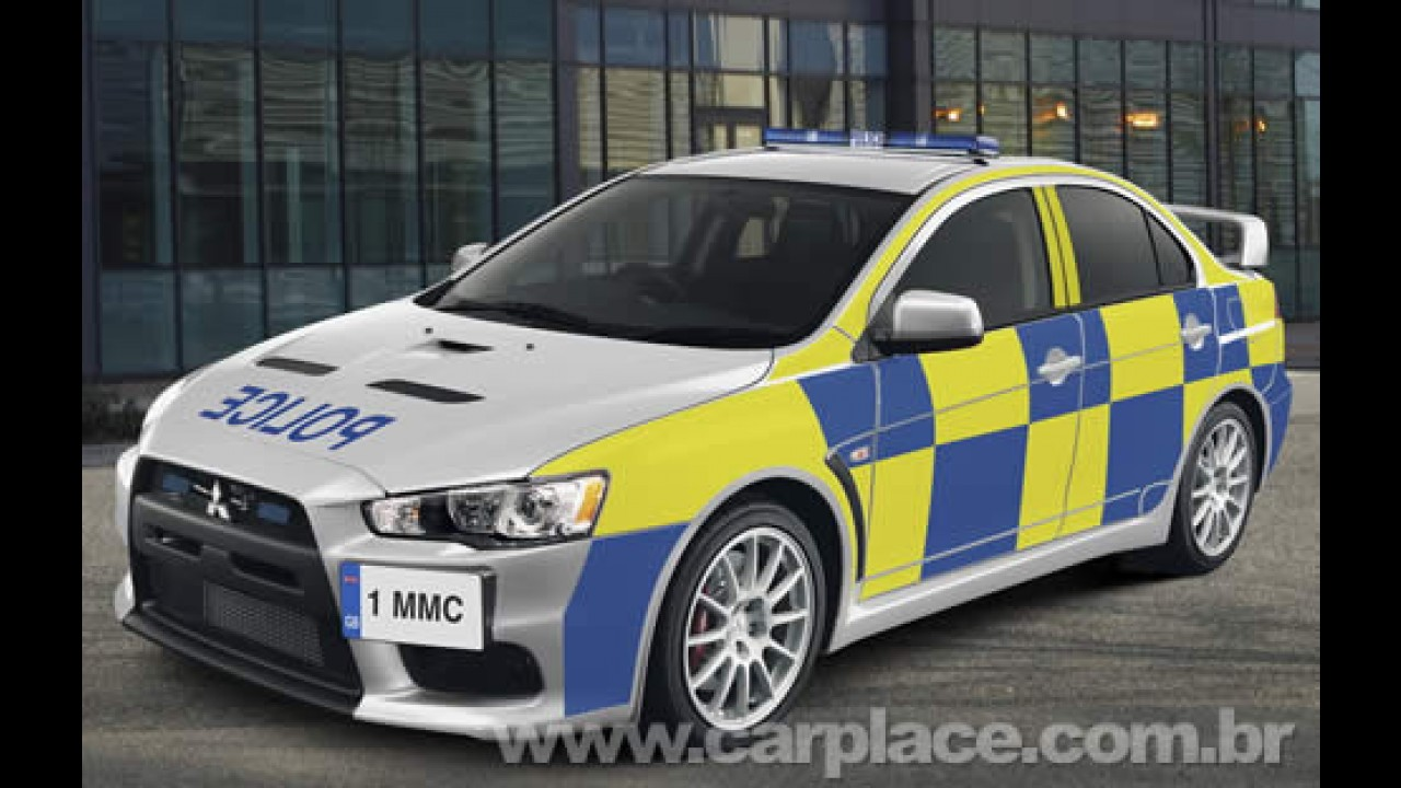 Carro de polícia de verdade: Mitsubishi mostra Lancer EVO X Police Interceptor