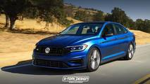 VW Jetta R Render