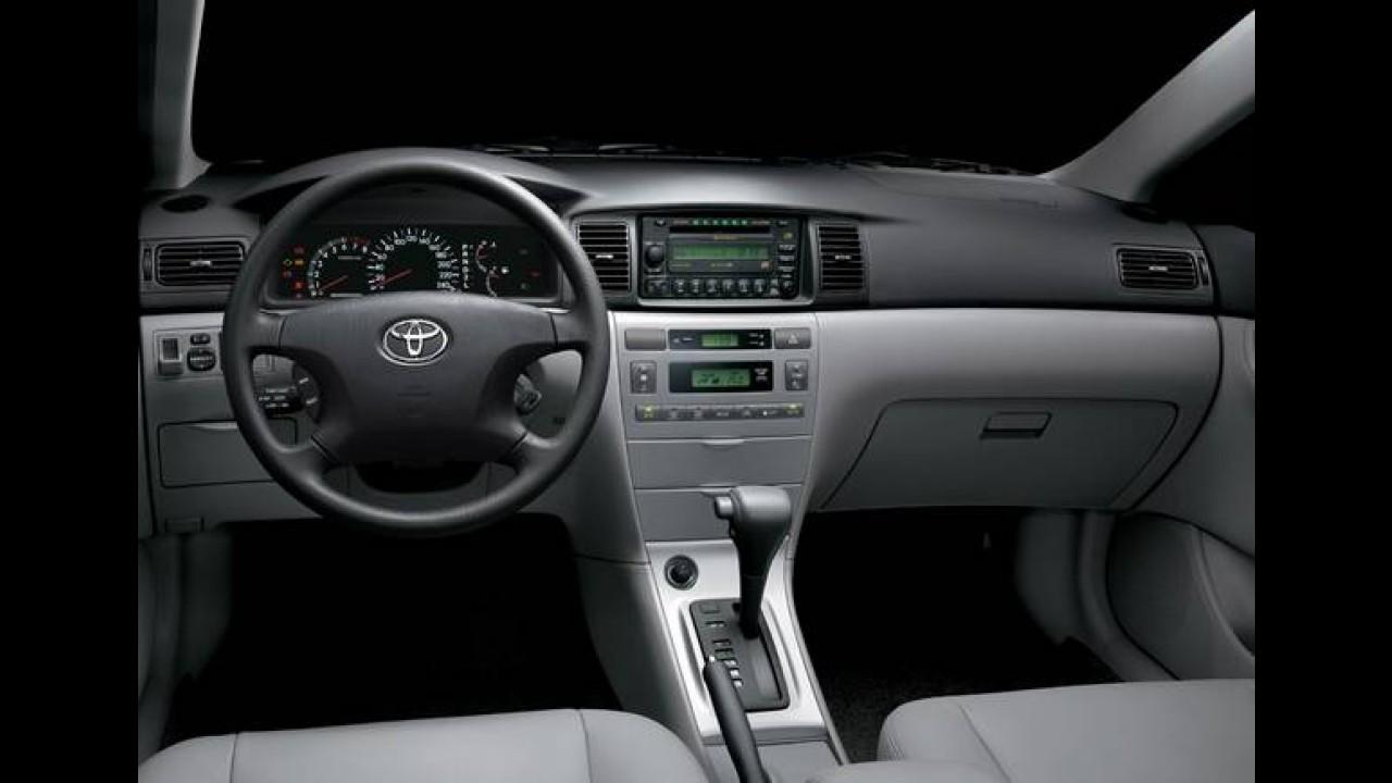 Recall: Toyota convoca 28.148 unidades do Corolla produzidas entre 2002 e 2003
