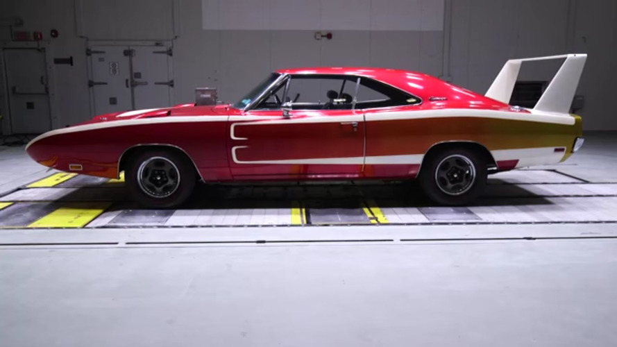Wind Tunnel Battle: 1969 Dodge Charger Daytona Vs 2016 Charger Hellcat