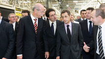 smart plant in Hambach, France selected as the location for the large-scale series production of the smart fortwo electric drive - announcement made on the occasion of the visit of French President Nicolas Sarkozy: Dr. Dieter Zetsche, Chairman of the Boar