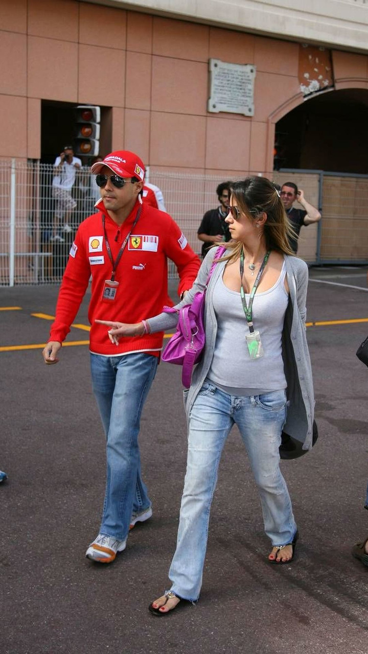 Felipe Massa (BRA), Scuderia Ferrari and Rafaela Bassi (BRA), Wife of Felipe Massa, Monaco Grand Prix, Saturday, 23.05.2009 Monte Carlo, Monaco