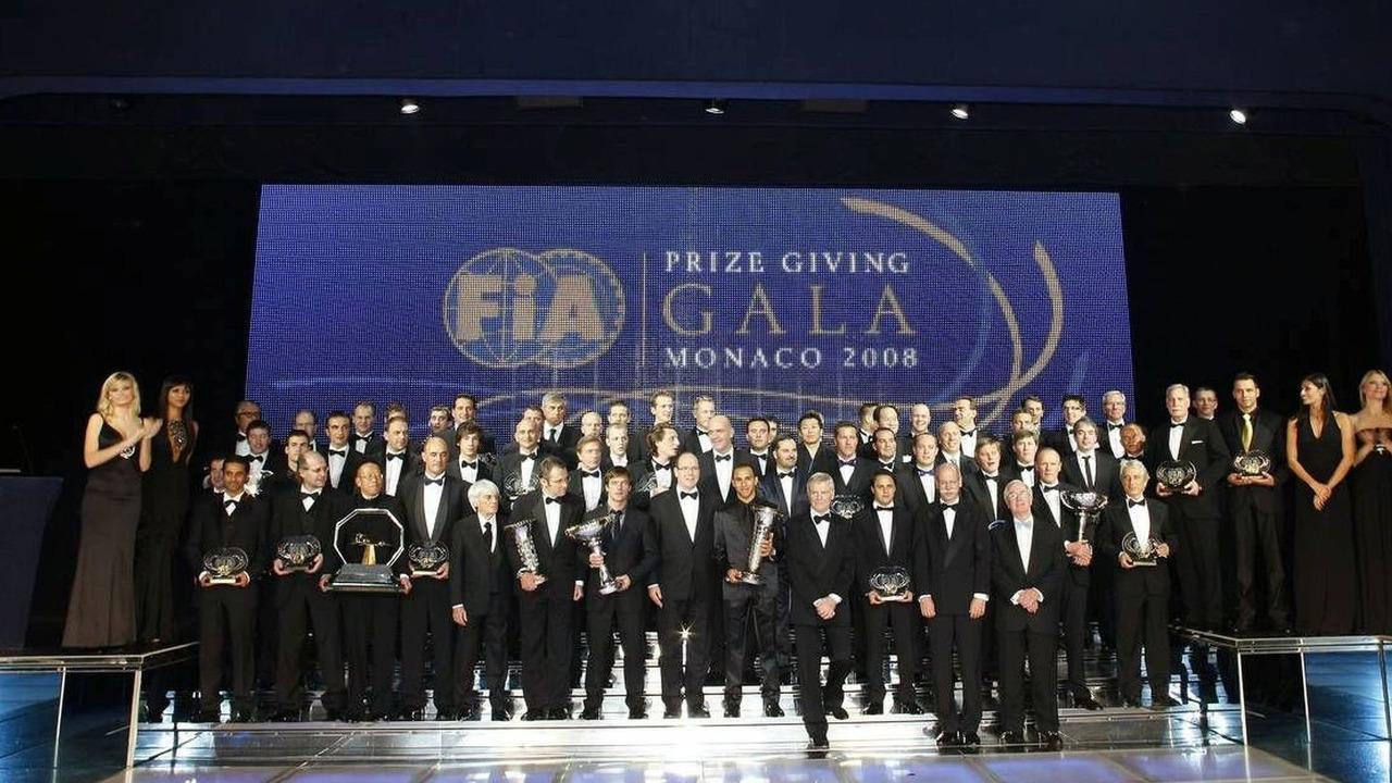 FIA Trophy Winners (Group), 2008 FIA Gala Prize Giving Ceremony, 12.12.2008 Monte-Carlo, Monaco