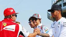 Fernando Alonso (ESP) with Lewis Hamilton (GBR) / XPB