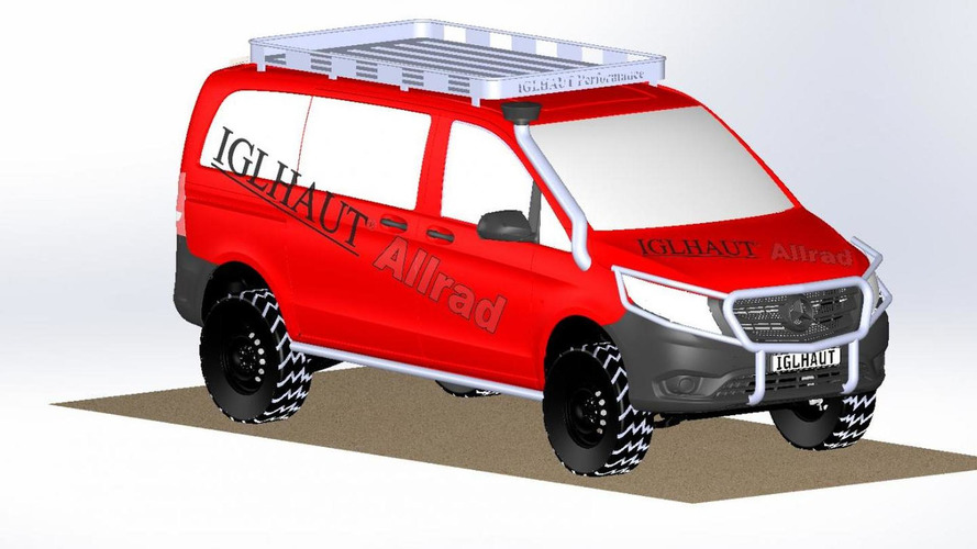 Iglhaut previews their off-road tuning program for the Mercedes Vito & V-Class
