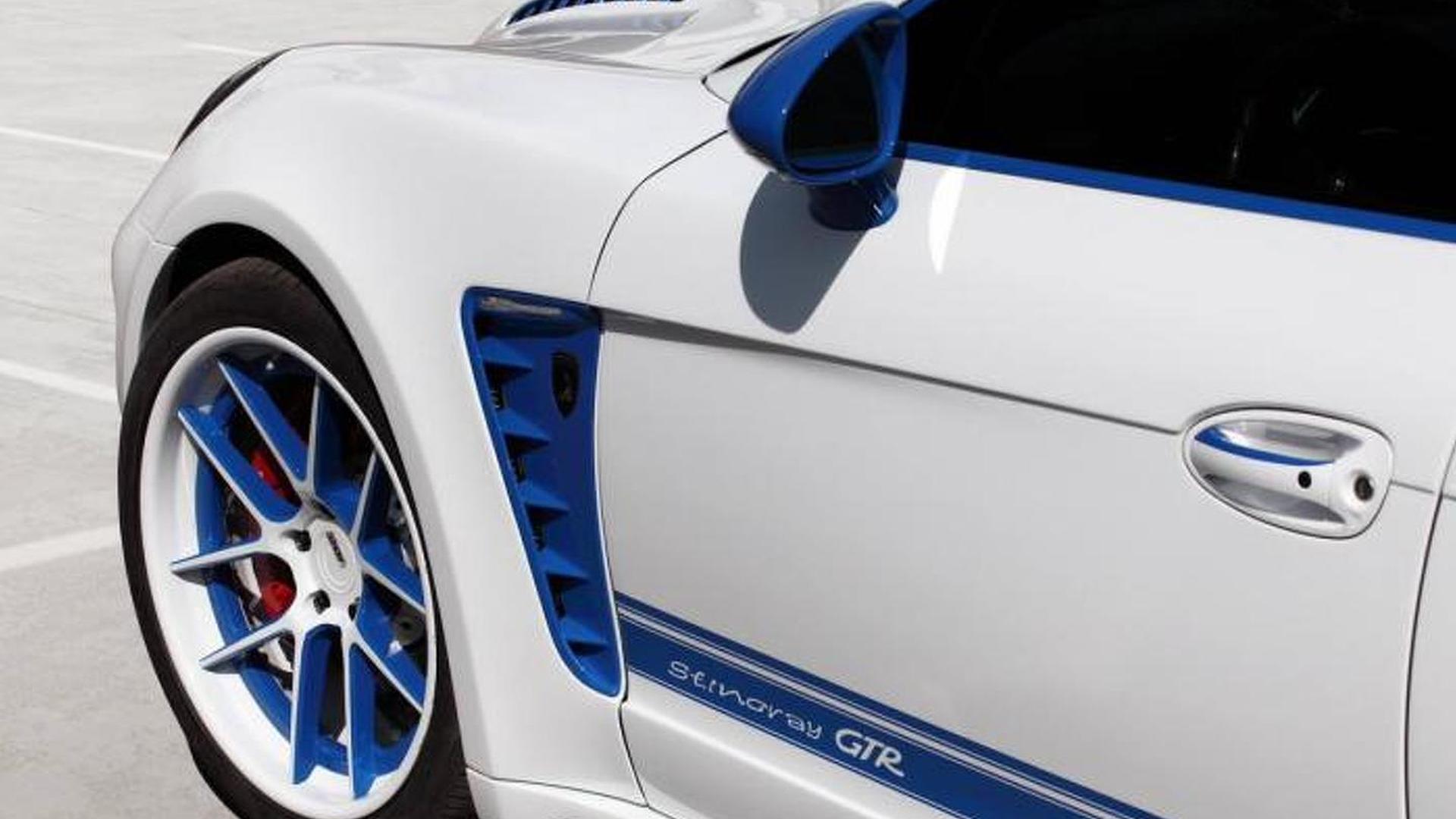 Бело-синие колёса ADV.1 Wheels