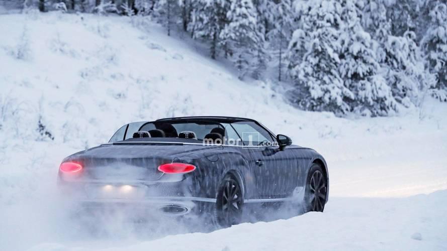 2019 Bentley Continental GTC spy photos