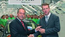 Skoda Superb 100.000 Production Landmark