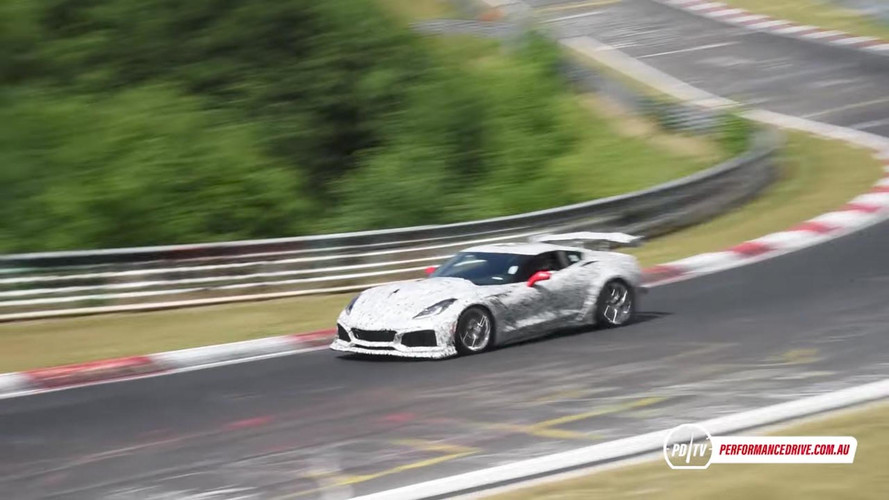 2018 Chevrolet Corvette ZR1 Spied Testing At 'Ring, Sounds Angry