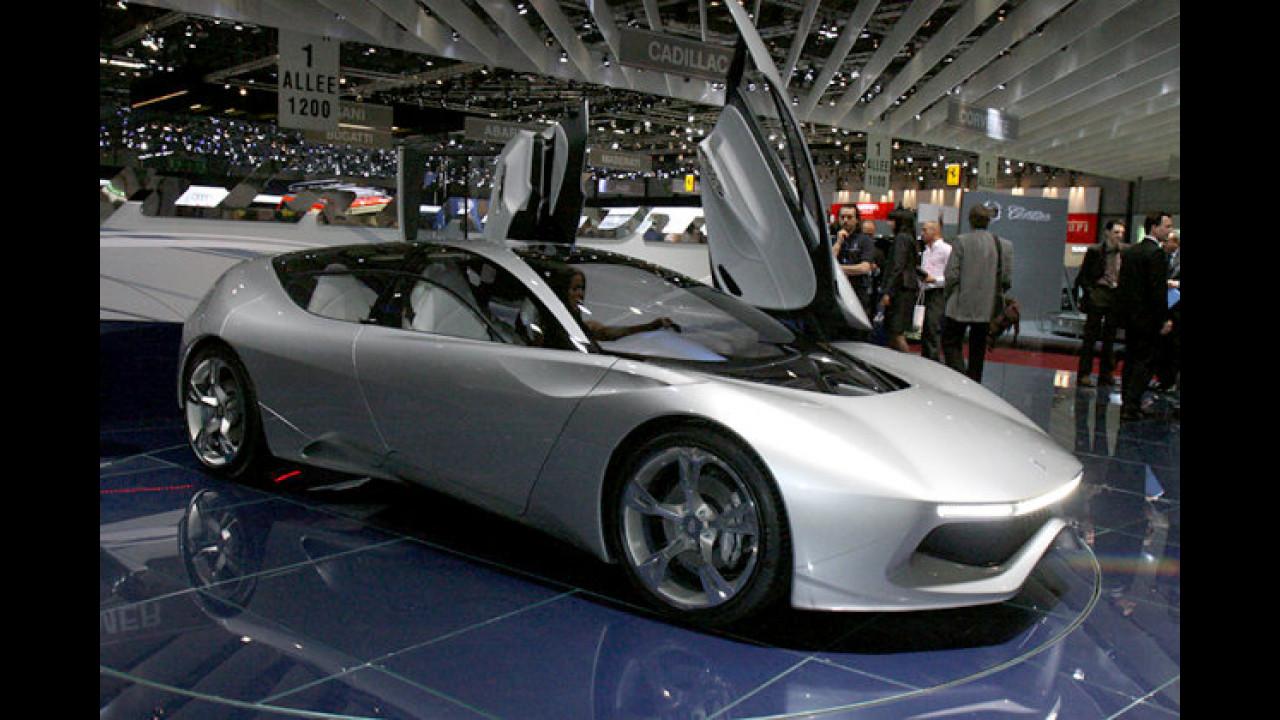 Noch eine grüne Sportwagenstudie aus Italien: Der Pininfarina Sintesi läuft mit Brennstoffzellen-Technologie
