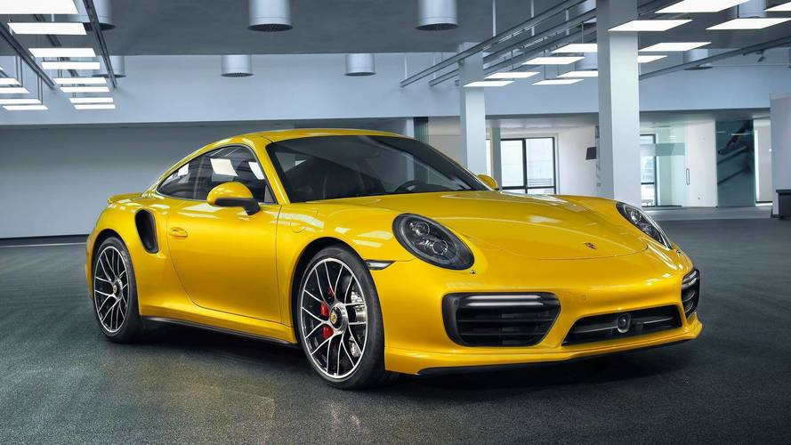 Porsche 911 turbo yellow saffron metallic paint photo for Metallic yellow paint