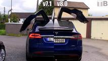 Tesla v8.0 update makes Model X's doors open much faster