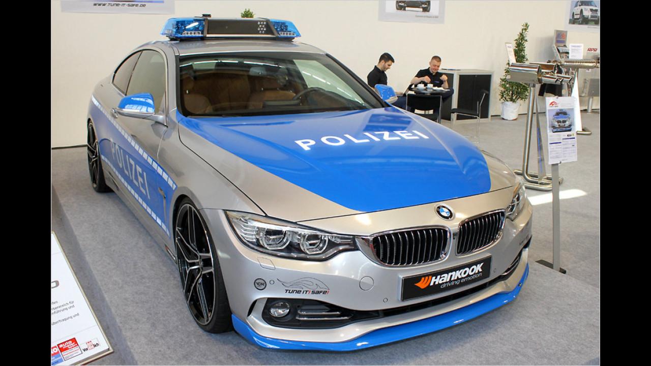 Schnitzer BMW 4er Coupé als Kampagnenauto von ,Tune it! Safe!