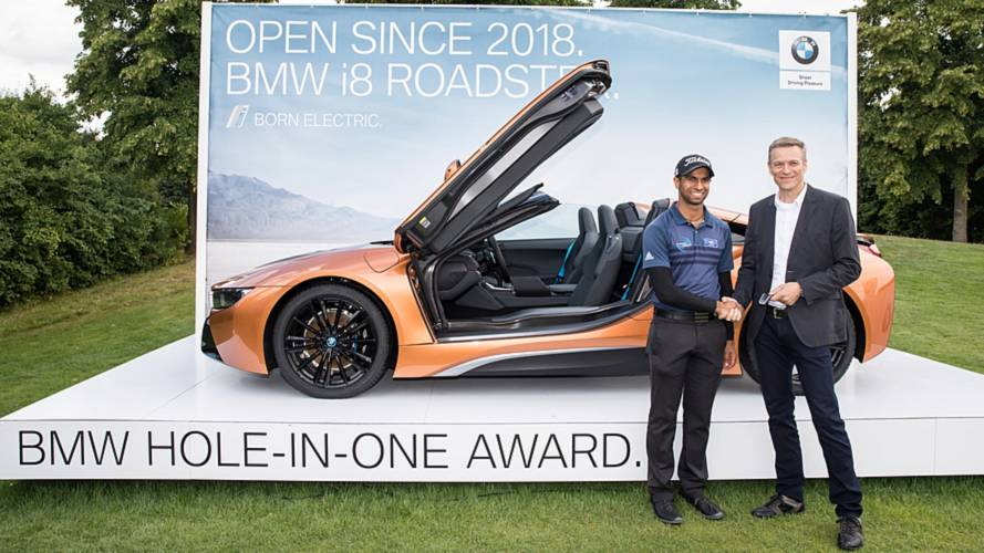 British golfer bags BMW i8 Roadster after hole-in-one