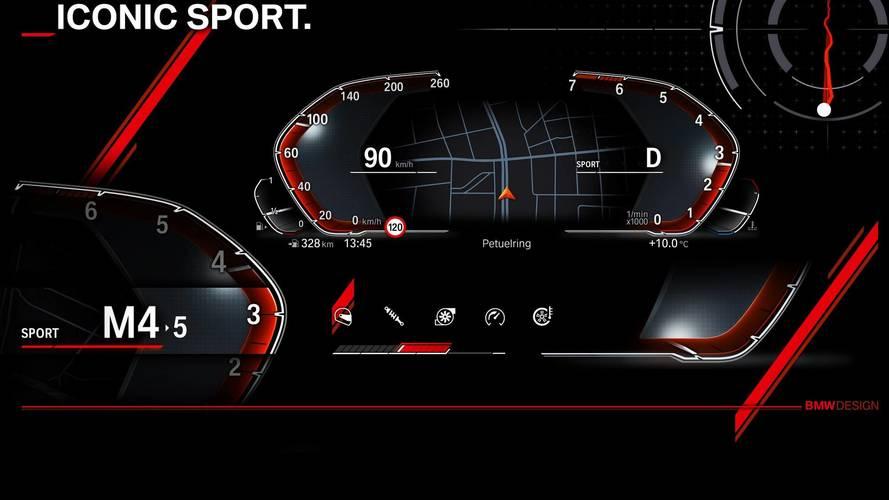 BMW revela imagens de novo painel de instrumentos digital