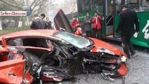 Lamborghini Aventador crash in China