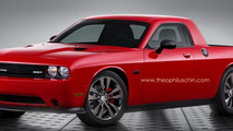 Dodge Challenger pickup truck rendering / Theophilus Chin
