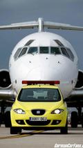 SEAT Altea greets aircraft at Barcelona