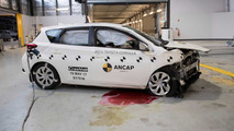 ANCAP crash test between 1998 and 2015 Toyota Corolla