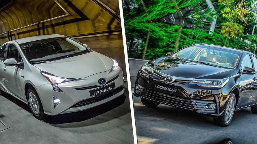 Briga em casa - Toyota Prius x Corolla Altis