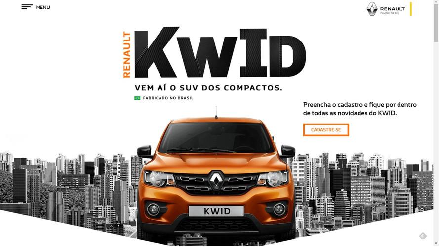 Renault tira contagem regressiva do site do novo Kwid