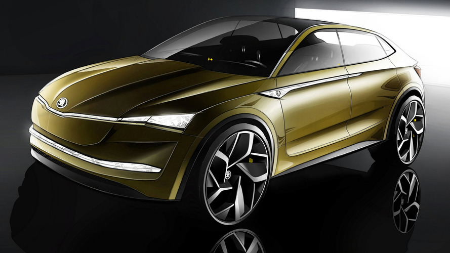 Skoda Vision E Concept SUV-Coupe Previews Firm's EV Future