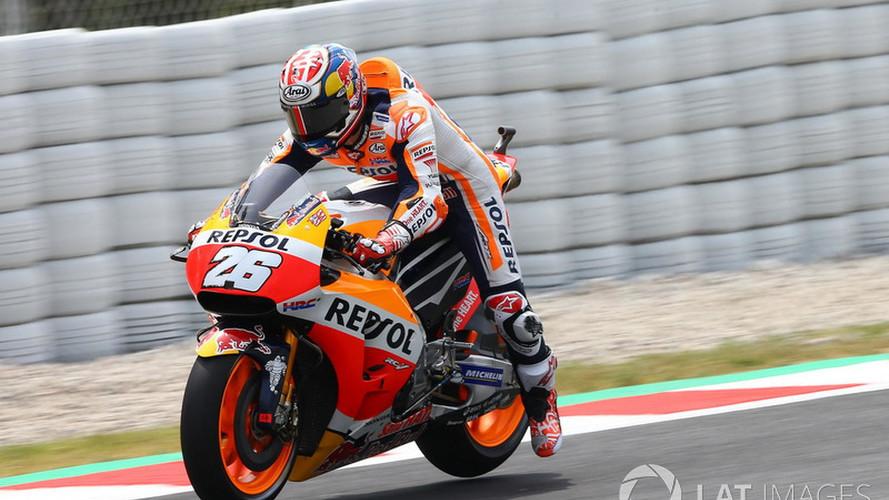 Pedrosa se aferra a la pole de MotoGP en Montmeló