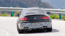 2018 Mercedes-AMG C63 Coupe facelift spy image
