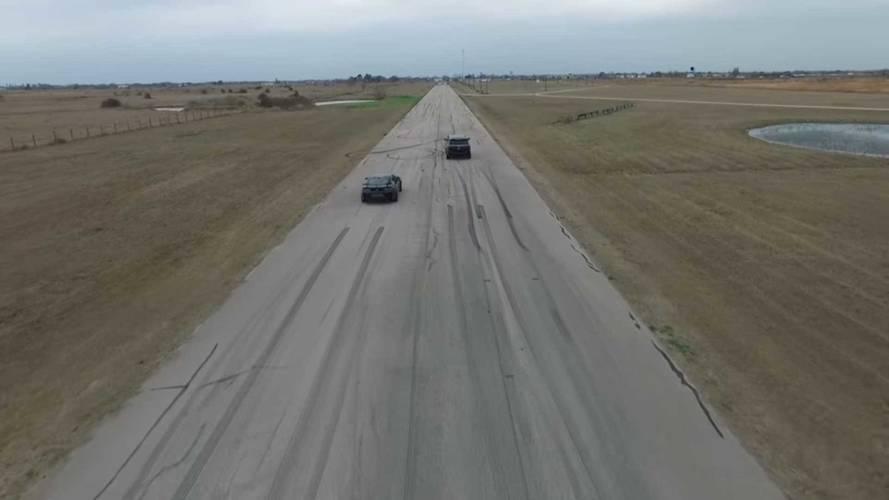 Hennessey Cadillac Escalade Vs Chevrolet Camaro ZL1 Drag Yarışı
