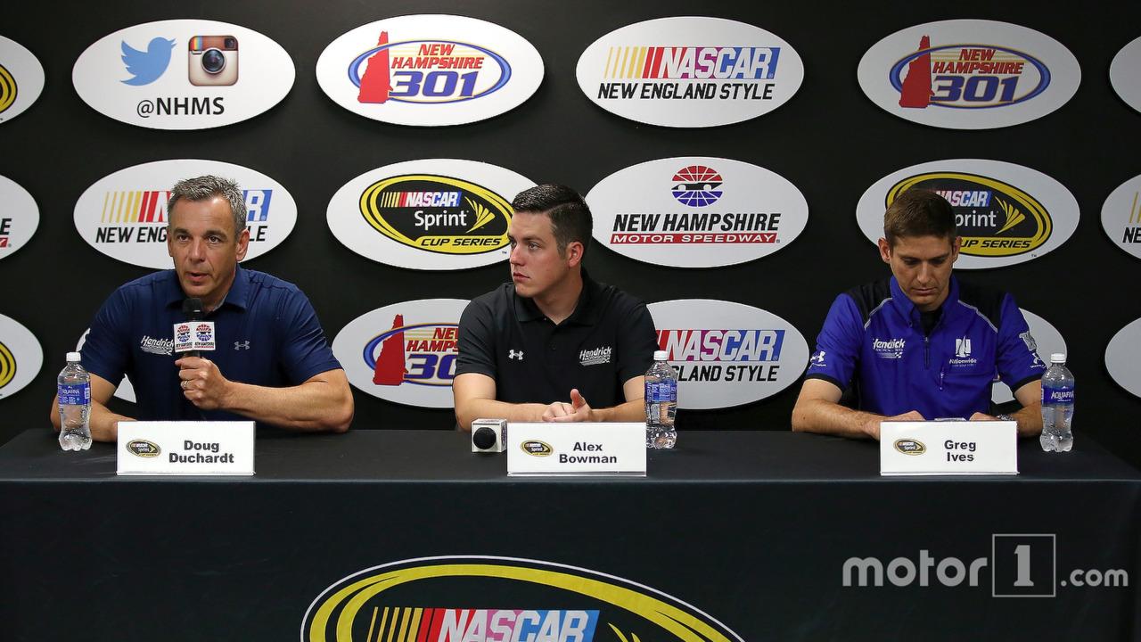 Doug Duchardt, Alex Bowman and Greg Ives