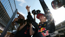 Race winner Max Verstappen, Red Bull Racing celebrates with the fans