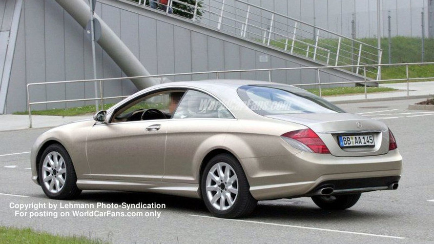 Next Generation Mercedes CL Coupe Spy Photos