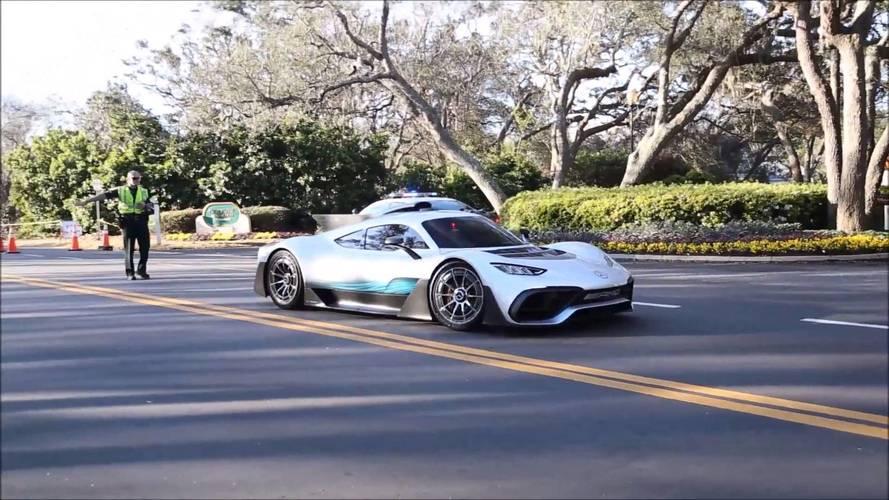 Mercedes-AMG Project One'ı bir de hareket halinde görün
