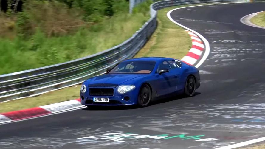 Bentley Continental GT viraj alırken yakalandı