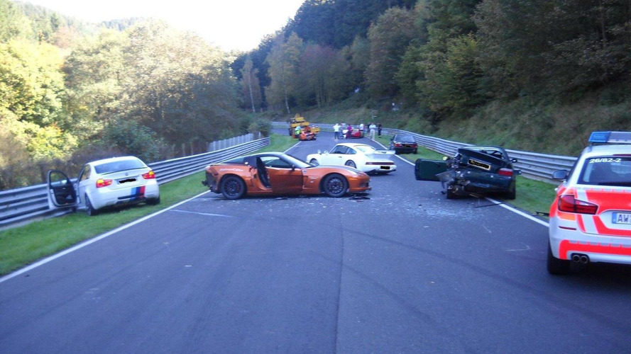 Eight-car pileup at the Nürburgring includes Ring Taxi
