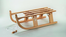 Volkswagen Accessories traditional wooden folding sled 02.02.2012