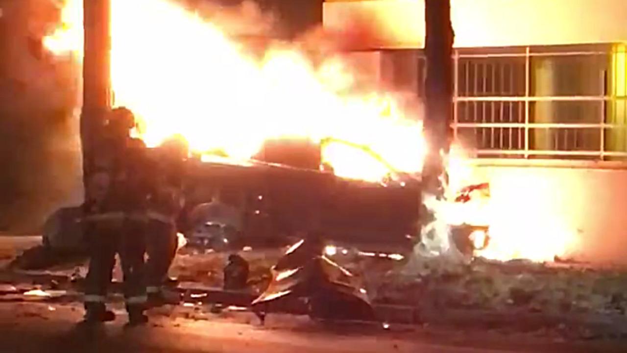 Tesla Model S Crash Indianapolis