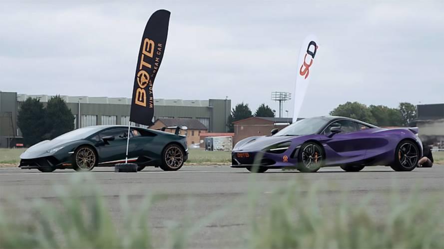 630-HP Lamborghini Huracan Drag Races A 710-HP McLaren 720S