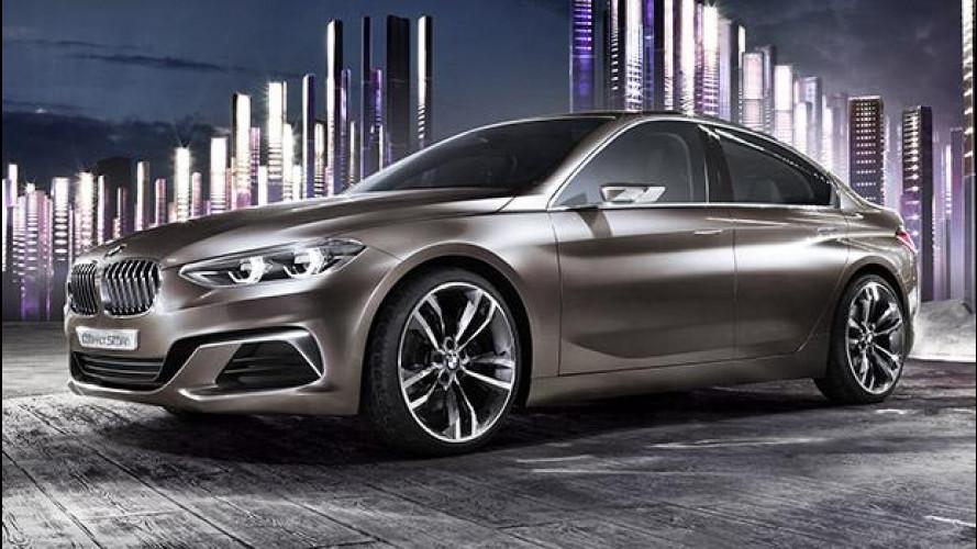 BMW Concept Compact Sedan, la Serie 1 a quattro porte