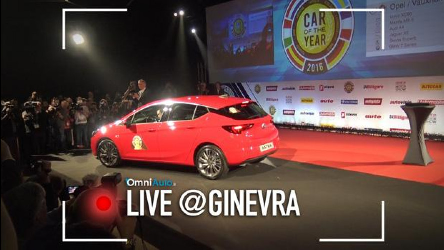 Salone di Ginevra, Opel Astra è Auto dell'Anno 2016 [VIDEO]
