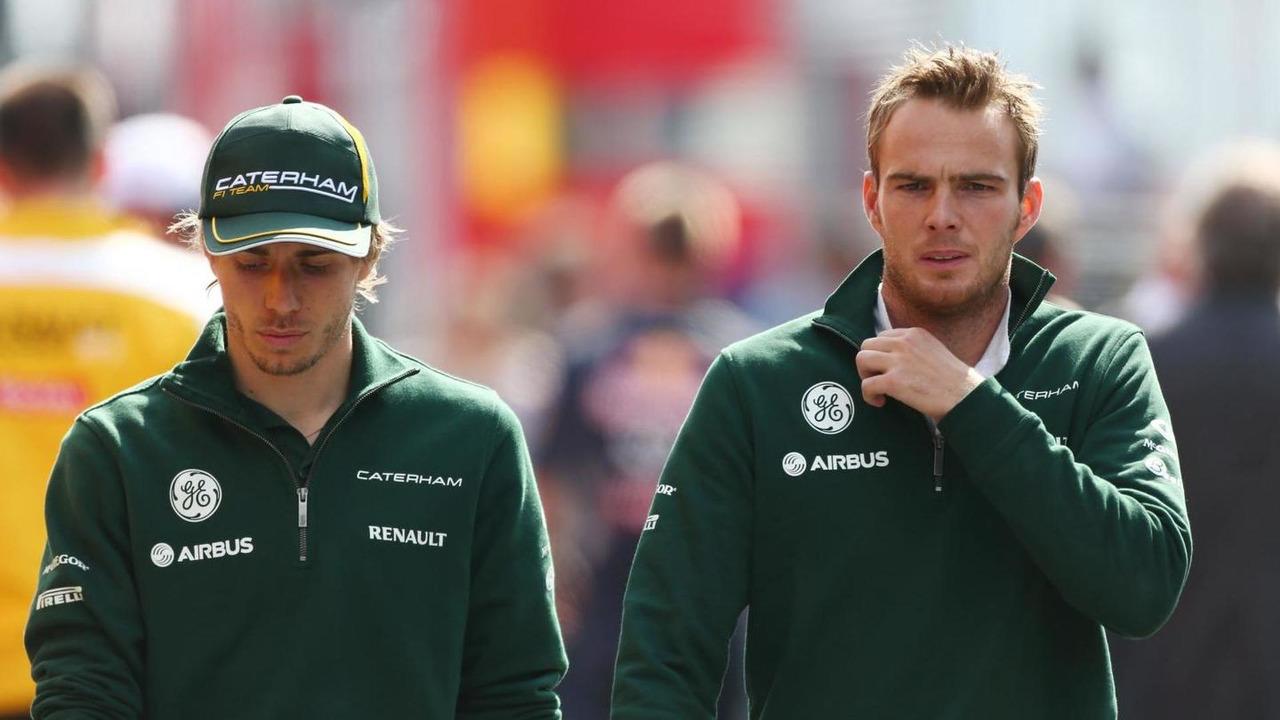 Charles Pic with Giedo van der Garde 05.07.2013 German Grand Prix