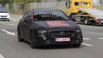 2019 Mercedes A-Class with less camo spy photos
