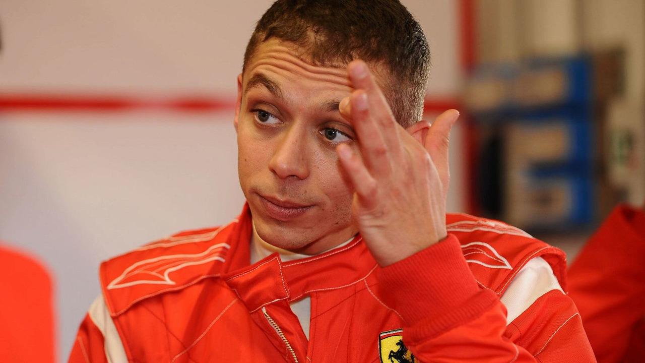 Valentino Rossi testing for Ferrari