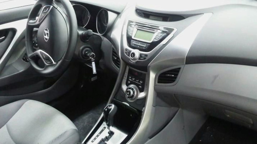 2011 Hyundai Elantra Interior Photos Spied