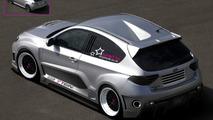 Subaru Impreza WRX rear-engined three-door widebody artist rendering - 1500