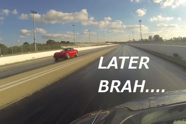 Video: Tesla Model S Outguns Dodge Viper SRT10